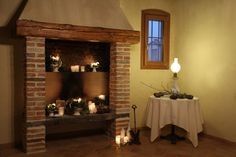 #fireplaces#flowers#candle#casatormene#selvazzano#caminetto