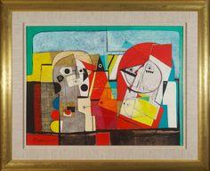 #12756 Henryk Szydlowski 'Birds Theatre on the Moonlight Field' 92cm x 113cm