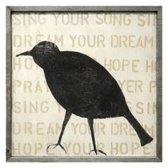 Bird Silhouette Wall Art