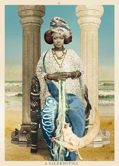 the high priestess - A SACERDOTISA - TAROT. #tarot #collage #lapapesse