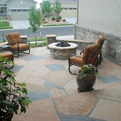 A view from the door.  Look at the beauty of natural stone  www.earthscaped.com