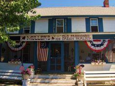 Muller's Ice Cream on Chincoteague Island, VA, run by people from the Philadelphia area.  Fun!