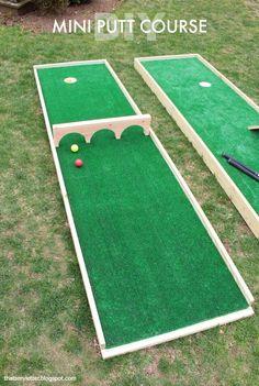 Backyard Miniature Golf Course