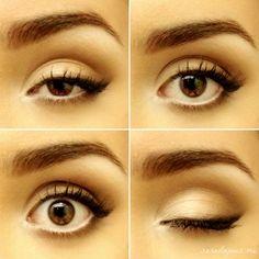 eyeliner for round eyes Tutorial: My Everyday Soft Cat Eye Cat Eye Eyeliner, Everyday Eye Makeup, Everyday Makeup Tutorials, Cat Eyes, Eyeliner Makeup, Eye Contacts, Cat Makeup, Eye Makeup Tips, Make Up
