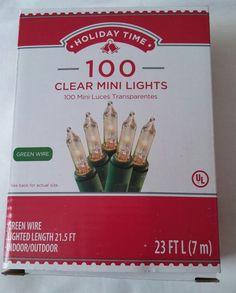 New 100 Clear White Mini Lights Christmas Wedding Parties Patios Bars 23 FT  | Home & Garden, Holiday & Seasonal Décor, Christmas & Winter | eBay!