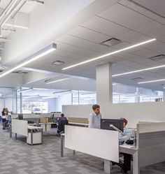 Prulite - Products Bionic Linear Suspended. Prudential Lighting. Office Lighting.