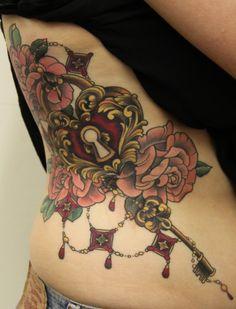 Lock And Key Tattoo