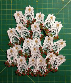 Set of 16 Angels Of Christmas Alpha Ornament and Set of 3 Nativity Angels of Christmas #etsy  #design