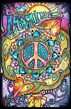Imagine Peace and Love, Singleton Hippie Art Poster, Fully hand colored by… Hippie Peace, Hippie Love, Hippie Style, Hippie Bohemian, Hippie Things, Hippie Chick, Mundo Hippie, Estilo Hippie, Peace Love Happiness