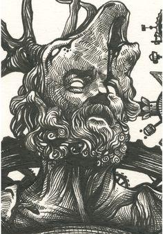 BIOFUSION by DZO Olivier on Behance Drawing | Illustration | Pen | Ink | Ilustração | Draw | Desenho |