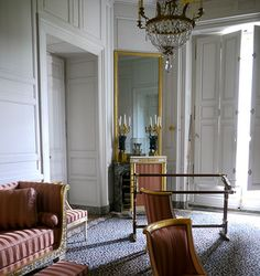 The lovely little house on rue de la Chantereine in Paris that Josephine and Napoleon first lived in has disappeared, but here is some of the furniture that was in that house.