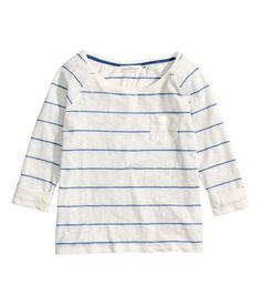 striped jersey top | H&M US