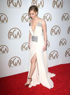 Jennifer Lawrence Prada gown 2015 Producers Guild of America Awards