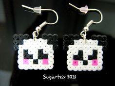 Pendientes colgantes de oso panda.  Si te gustan puedes adquirirlos en nuestra tienda on-line: http://www.sugarshop.eu