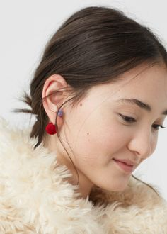 A pair of delicate earrings with a very soft touch. | 29 Products That'll Have You Drenched In Velvet