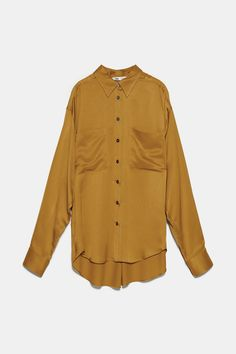 Lapel collar blouse with long cuffed sleeves with pleats. back pleat detail. Satin, Pli, Collar Blouse, Mannequin, Rain Jacket, Windbreaker, Shirt Dress, Long Sleeve, Model