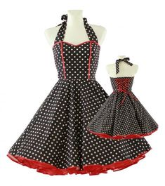 50's vintage dress sweet heart design black by Lolablossomclothing