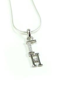 Gamma Eta Sterling Silver lavaliere  #gammaeta #sterling #silver #lavaliere #greek #sorority #fraternity