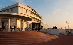 The Midland Hotel, Morecambe, enjoy a seaside break in Lancashire at this stylish Artdeco icon. Book direct with English Lakes for the best prices & offers Ocean Beach Hotel, Beach Hotels, Seaside Hotels, Aviator Hotel, Lake District Hotels, Midland Hotel, Art Deco Hotel, Morecambe, Streamline Moderne