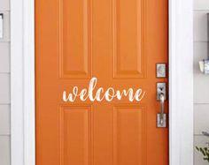 Address with Family Initial Vinyl Door Decal Door Decal | Etsy