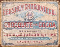 Hershey's - Chocolate & Cocoa Tin Sign