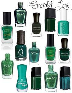 emerald green nail polish zoya illamasqua