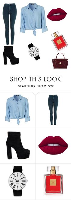 """Untitled #10"" by maja-omic ❤ liked on Polyvore featuring Topshop, Lime Crime, Rosendahl, Avon and Hill & Friends"