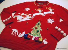 The Ugly Christmas Sweater Kit is the Ultimate DIY Project for the Holiday. | http://www.ifitshipitshere.com/my-ugly-christmas-sweater-kit/