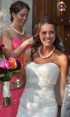 Pearl Bridal Jewelry Twisted Pearl Necklace Handmade by Amanda Badgley Designs   Wedding Ideas   Bride and Bridesmaid Jewelry