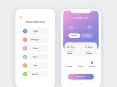 Travell App UI designed by Tasha.
