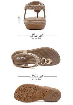 c1a38bdfc99b6 Maybest Women Sandwich Sandals Rhinestone Clip Toe Beach Shoes Elastic T- Strap Bohemia Flat Slippers Thongs Flip Flop