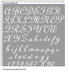Free Filet Crochet Alphabet Pattern
