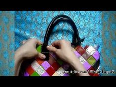 how to make a folded paper chain purse. No audio in structions, but the visuals are so clear you don't need them. I actually kind of prefer it this way...
