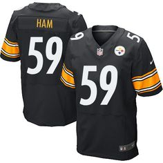 7b3e4477246 Nike Elite Vince Williams Black Men's Jersey - Pittsburgh Steelers NFL Home
