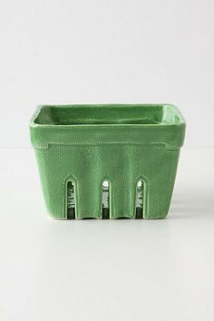 I love anthropologie's stoneware versions of classic disposable containers, like their cute little farmer's market baskets.