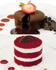 Annie's Desserts 12pc Chocolate Lava Cake & Lil' Red Velvet Set: looks really delicious