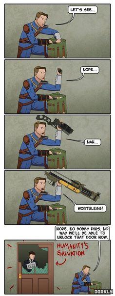 Trueeeeee ~ Fallout 4 funny door unlock