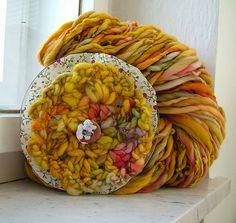 Yarn, spinning and dyeing | Renata Holková | Flickr
