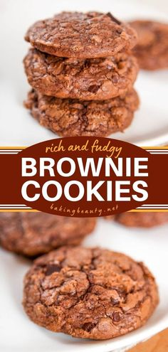 Don't wait too long before trying this cookie idea! Rich and fudgy, soft and chewy, it is everything you want and more. Save this brownie cookie recipe for an easy chocolate dessert to impress! Bar Recipes, Easy Cookie Recipes, Brownie Recipes, Yummy Recipes, Baking Recipes, Delicious Desserts, Yummy Food, Easy Chocolate Desserts, Desserts To Make