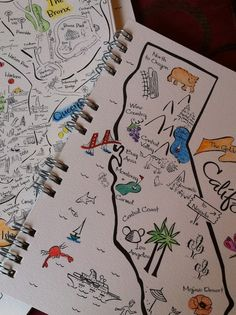 travel map journal - should draw/paint a map for all our trips