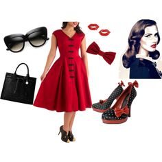 Retro / Pin Up / Vintage Style, created by glitterspazz.polyvore.com