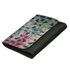 Abstract Colorful Leather Wallet by Natural View