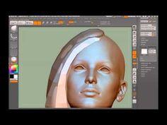 Zbrush: Video ▶ polygonal hair - YouTube
