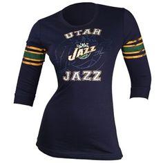 Utah Jazz Victory Is Sweet 3/4 Sleeve Women's T-Shirt (Navy)
