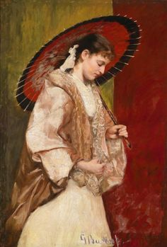 Young Woman with Parasol - Johann Georg Buchner