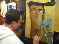 ▶ Creating an Abstract Face Art Painting - Fidostudio - YouTube