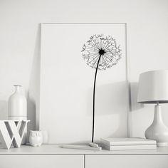 Dandelion Modern Abstract Wall Art Printable por NordicPrintStudio