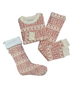 Another great find on #zulily! Burt's Bees Baby Ivory Fair Isle Pajama Set & Stocking - Infant, Toddler & Kids by Burt's Bees Baby #zulilyfinds