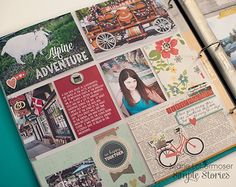 Life Documented pocket page spread created by design team member Marie Lottermoser using our new Homespun collection