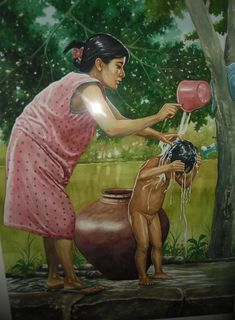 Mother And Child Painting - Mother And Child by Jose Vistan